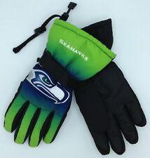 NFL Seattle Seahawks Men's Winter Ski Glove w/ Gripper Palm NEW!