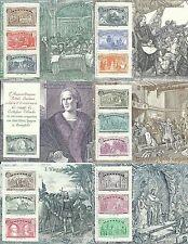 1992- FOGLIETTI MANIFESTAZIONI COLOMBIANE- ITALIA- SPAGNA - USA- PORTOGALLO- MNH