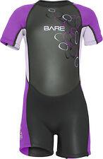 Bare Kids Tadpole WetSuit Shorty Sun Guard Swim Purple  All Size 2,4,6yr
