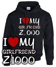 HOODIE * I LOVE MY girlfriend Z1000 * Motorrad Biker SATIRE für den Kawasaki Fan