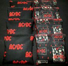 AC/DC Cornhole Bean Bags 8 ACA Regulation Party Game Rock & Roll Guitar