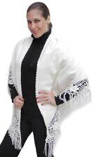 Elegant Womens Handmade Alpaca Wool Shawl Wrap Woven Soft Warm Peru One Size