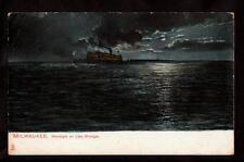 tuck ship on lake michigan milwaukee wisconsin postcard