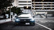 Honda civic si voiture noire classique fast wall poster art T372