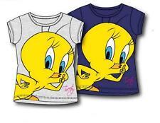 T-Shirt Bimba Tweety con Strasse, Maglietta bambina Looney Tunes *13222