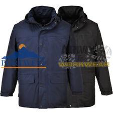 Mens Fleece Lined Jacket Waterproof Portwest Work Wear Coat Winter Warm Outdoor