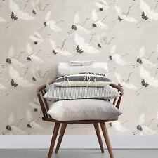 Brewster A Street Prints Windsong Gray Crane Contemporary Designer Wallpaper Diy