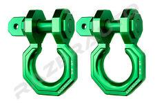 "2pcs 3/4"" Green 3.0 Ton Aluminum D-Ring Bow Anchor Shackle Heavy Duty Off road"