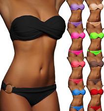 NEU Sexy bikini Twist Push Up Bandeau Damen Badeanzug Gr.  S M L XL