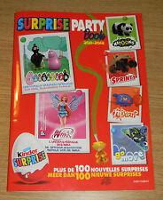 KINDER SURPRISE PARTY BOOK 2011-2012 BARBAPAPA WINX NATOONS GOMOVE ...+ STICKERS