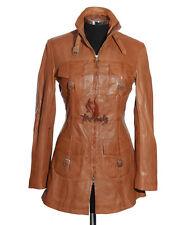 Ladies LAUREN TAN New Safari Style Real Soft Lambskin Nappa Leather Coat