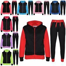 Niños Niñas Niños Sudadera Con Capucha Polar Con Capucha Chándal Fondo Trotar Suit Jogger 7-13Yr