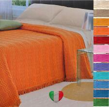 Copriletto Estivo Tessuto Jaquard Ciniglia 100% Cotone 12 Colori prodotto Italia