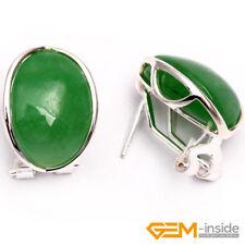 Fashion Jewelry 14x18mm Gemstone White Tibetan Silver Stud Earrings XMAS Gift