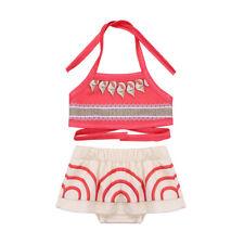 Kids Girls Bikini Swimwear Halter Tops+Bottoms Swimming Costume Tankini Swimsuit