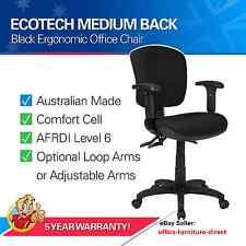 Desk Chair, Computer Chairs Ergonomic Office Gas Lift Typist, Arm Rest - Ecotech