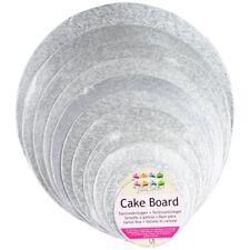 FunCakes Cake Board Tortenunterlage - Tortenplatte - runde silberne Kuchenplatte