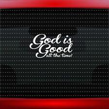 God Is Good #3 Christian Car Decal Truck Window Vinyl Sticker Jesus (20 COLORS!)