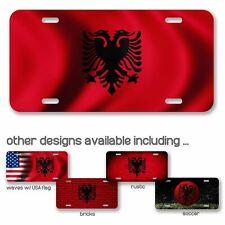 I LOVE HEART ALBANIA BLACK License Plate Frame ALBANIAN PRIDE AUTO SUV Tag