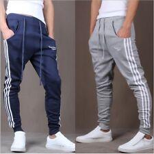 Men's Gym Slim Fit Trousers Pants Tracksuit Joggers Skinny Sportswear Bottoms UK