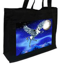 Pegasus Cotton Shopping Bag, Choice Of Colours, Black, Cream