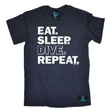 Eat Sleep Buceo Submarinismo repetir Camiseta Swim Mar Buceo Cumpleaños Regalo de Moda