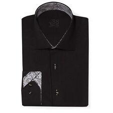 Black & white Mens Italian Style Regular fit Retro paisley shirt S-4XL