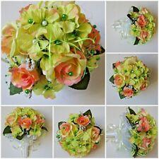 Hochzeit Braut Kunstblumen Strauß Brautstrauß blumenstrauß Seidenblumen BS02- 04