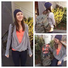 NWOT Lululemon Iconic Tencel Cashmere Twist Wrap Grey $128 Size 12