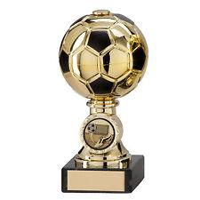 Football Trophies Gold Sienna Metal Ball Football Award 5 sizes FREE Engraving