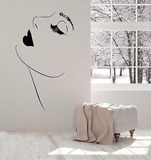 Vinyl Wall Decal Beautiful Girl Model Sexy Lips Makeup Eyelashes Sticker 1418ig