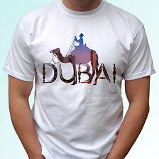 Dubai Camel white t shirt top holiday tee design - mens womens kids baby sizes
