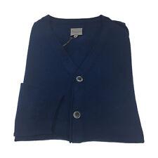 CA' VAGAN hombre cardigan azul claro 100 % algodón