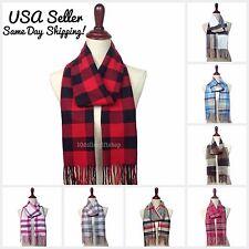 NEW Winter Warm Cashmere Feel Women's & Men's Scarf Plaid Checker Pashmina Wrap
