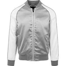 Urban Classics - SOUVENIR Bomber Satin Jacket silver