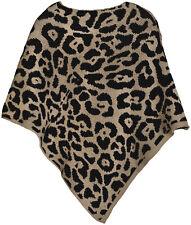 Poncho mit Leoparden Muster