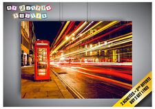 Poster Cabina Telefonica Londra Street Effetto Speed Stile