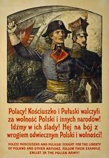 WA101 Vintage WW1 Polish Poland Recruitment Enlist War Poster WWI A1/A2/A3/A4