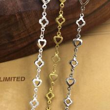 1 Meter Flower and Heart Design Link Handmade Chain