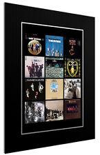 MOUNTED / FRAMED  PRINT THE BYRDS ALBUM DISCOGRAPHY ARTWORK SUPERB GIFT ARTWORK