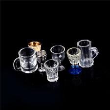 1:12 Dollhouse Miniature Kitchen Glass Beer Wine Cup Drink Bottles Decor LA
