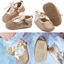 Newborn Baby Girls Bling Crib Pram First Walkers Bowknot Princess Shoes