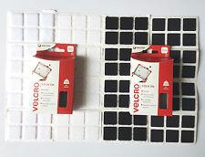 24 almohadillas de Velcro ® plazas Adhesiva Pegar en los sujetadores de gancho y bucle 25mm Negro/Blanco