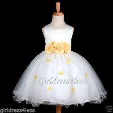 US Seller Ivory Halloween Princess Girl Costumes Flower Petals Party Dress