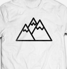 3fd6693f MOUNTAIN RANGE HIKING CAMPING EXPLORE ADVENTURE OUTDOORS 100% cotton T-shirt  Tee