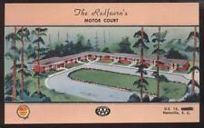 Postcard HARTSVILLE, SC  The Redfern's Motor Court Bird's Eye Aerial view 1950's