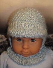 Istruzioni stampate-Baby a trama grossa picco Pigiama con ST Balaclava Hat knitting pattern
