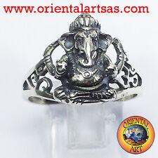 Ring ganesh mit Om aus Silber Göttlichkeit Hindu