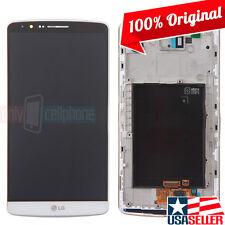 OEM LG G3 D850 D855 VS985 LS990 AS990 LCD Digitizer Assembly w/Frame White Scree