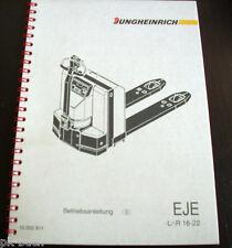 Betriebsanleitung Jungheinrich EJE -L / -R 16-22 Deichselhubwagen Elektro 10-94